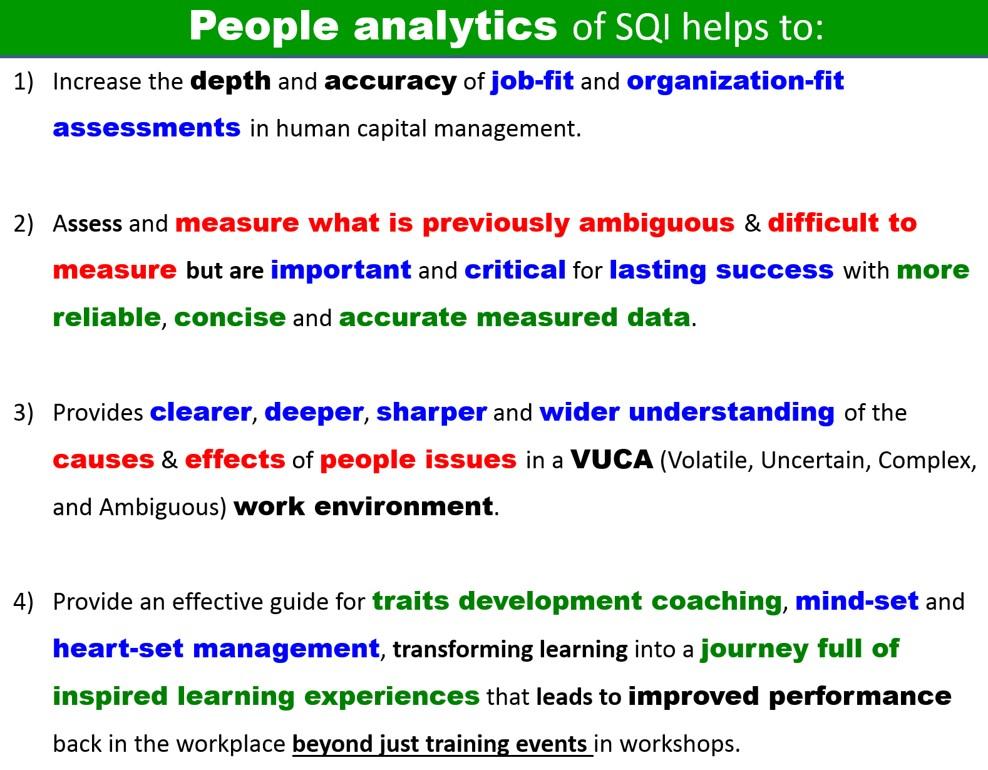 SQI people analytics homepage